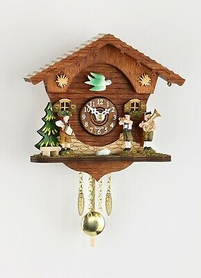 German Black Forest Miniature Pendulum Cuckoo Clock Quartz movement cuckoo call