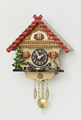 German Black Forest miniature pendulum Cuckoo Clock Quartz movement, cuckoo