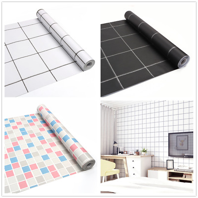 10M Self Adhesive Kitchen Livingroom Wallpaper Roll Shelf Liner Contact Paper