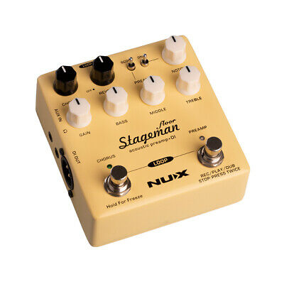 NEW NUX NMP-5 Stageman Floor Acoustic Preamp & DI Direct Box Pedal