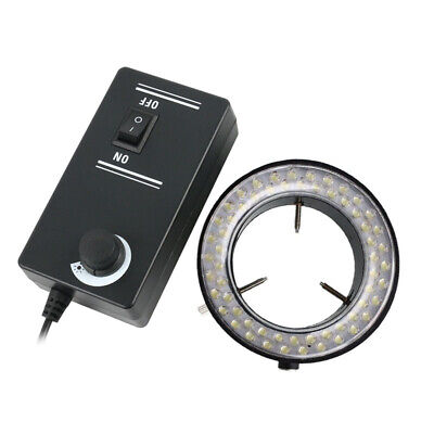 60 LED Stereo Microscope  Adjustable Ring Light Illuminator Ring Lamp 6 Colors
