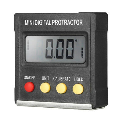Digital Protractor Inclinometer LCD Clinometer Angle Gauge Level Box MeasuringJB