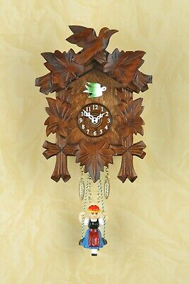 German Black Forest swing cuckoo clock with Quartz movement and cuckoo