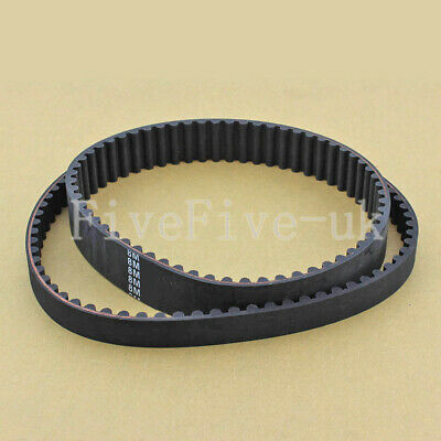 HTD8M Timing Belt Cogged Rubber Geared Closed Loop 25/30mm Wide 1304-1496