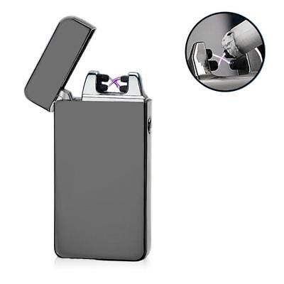 USB Electric Dual Arc Metal Flameless Torch Rechargeable Windproof Lighter ZH