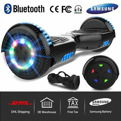 "Scooter elettrico Hoverboard 6.5/8/10 ""pollici Self Balance Board Bluetooth +LED"