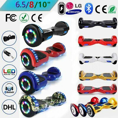 """6.5""""/8""""/10'' Hoverboard Bluetooth Self Balancing Scooters Skateboard E-Roller #P"""