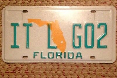 Florida Vanity Personalized License Plate Auto Tag It'l Go 2 It Will Go Too Also