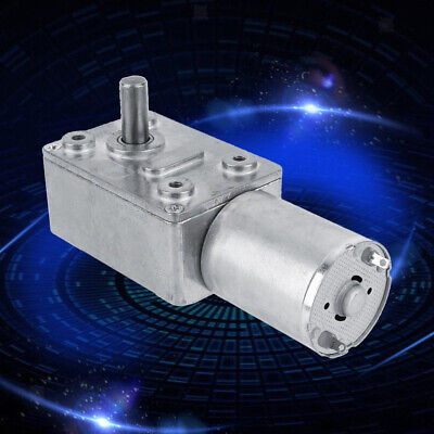 DC Gearbox Gear Motor Worm Gearmotor Reduction Speed Reducer Tool 24V 18RPM