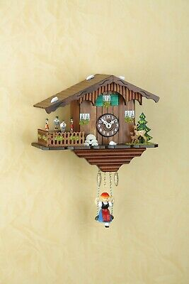 German Black Forest Swiss House clock Quartz movement cuckoo rotating dancers