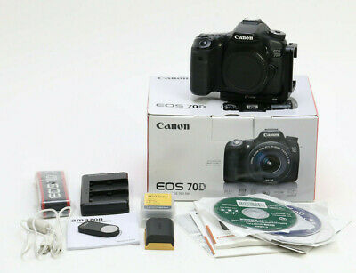 Canon EOS 70D 20.2MP Digital SLR Camera + L Bracket + More!