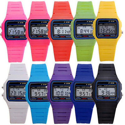 Men Women Electronic Led Digital Multifunction Plastic Sport Wrist Watch CheapJB