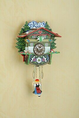 German Black Forest Swiss House Swing clock with Quartz movement and cuckoo