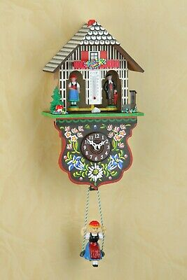 German Black Forest Weather House Cuckoo Clock- Quartz movement,cuckoo call