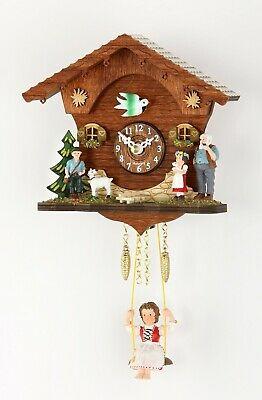 German Black Forest Swing clock with Quartz movement and cuckoo