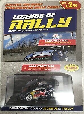 Legends Of Rally Issue No 1 FORD FIESTA WRC DRIVEN BY S OGIER & J INGRASSIA