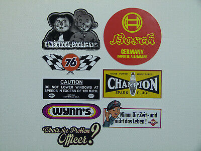 8x Oldtimer Aufkleber Sticker Vintage Retro USA V8 Rockabilly Tuning Auto MG626
