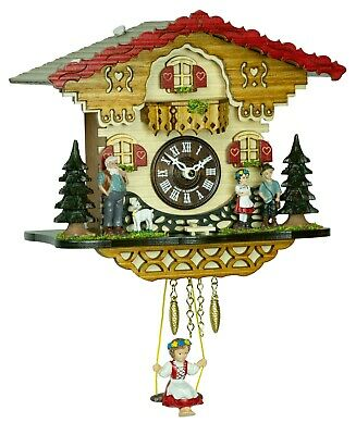 German Black Forest Miniature Swing clock with Quartz movement and cuckoo