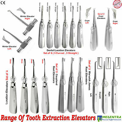 Dental Surgical Tooth Root Elevators Luxation Instruments Extraction Elavators