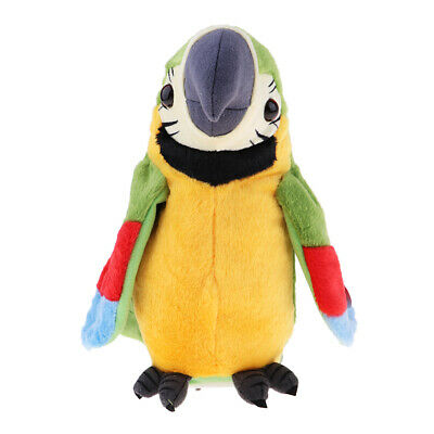 Cute Parrot Soft Plush Toy Bird Stuffed Electric Toy for Baby Kids Children
