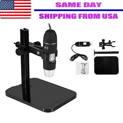 1000X 2MP 8LED Magnifier Camera + Lift Stand  USB Digital Microscope Endoscope
