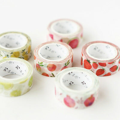 Cute Fruit Paper MaskingsTapes Washi Tape Diy Scrapbooking Sticker 15mm*7m Newly
