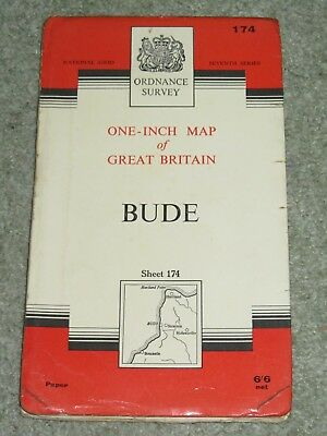 """OS Ordnance Survey 1"""" Seventh Series - 174 Bude - paper edition"""