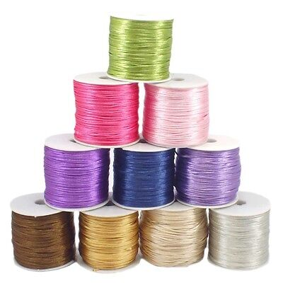1mm Queue de Rat Satin Corde Fil pour Kumihimo Macramé Shamballa 5 Mètres Lot