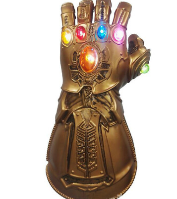 Avengers 3 Infinity War Infinity Gauntlet LED Light Thanos Gloves Cosplay Prop