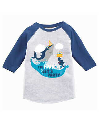825e3c9ff 5th Birthday Shirt Shark Jersey TShirts for Toddlers Shark Birthday Party  Gifts