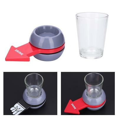 Fun Spinner Spin The Shot Roulette Glass Alcohol Drinking Game Tool Party Gift