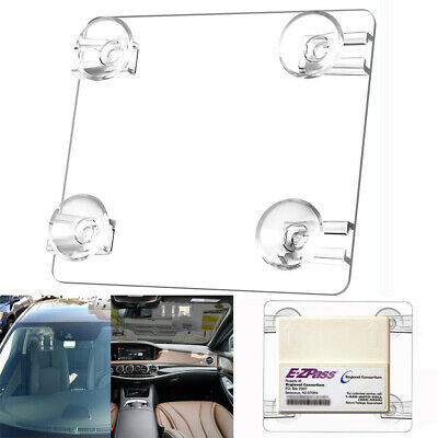 MINI EZ Pass-Mate™ Clear Suction Cup Toll Tag Holder for ALL EZPass models Hot