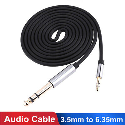 3.5mm to 6.35mm Male Jack Audio Cable Adapter for Amplifier CD Player Speaker