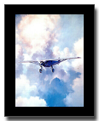 Spirit of St Louis Charles Lindbergh 1927 Ryan NYP framed picture Keith Ferris