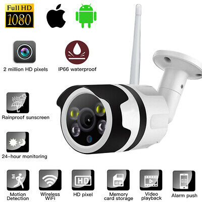 Wireless WIFI IP 1080P HD CCTV Night Vision Home Security Camera System Outdoor