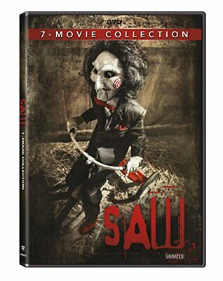 Saw 1-7 Movie Collection Box Set Tobin Bell James Wan Unrated DVD Horror discs 4