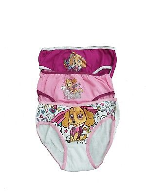 Nickelodeon Paw Patrol 3-PACK Cotton girls Briefs Knickers underwear 2-8 Years