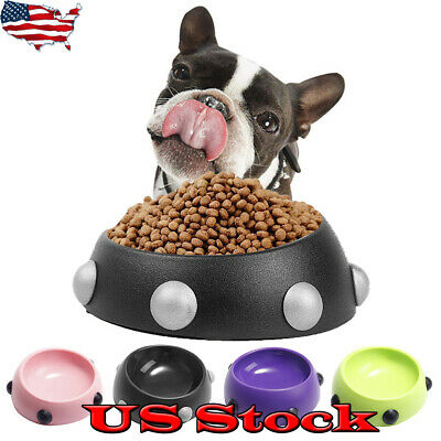 Pet Rivets Bowl Cat Dog Puppy Feeding Bowl Food Water Dish Feeder Fountain Toys