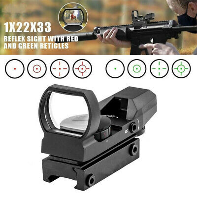 Tactic Holographic Reflex Sight Scope Red - Green Dot 4 Reticles Mount 20mm Rail