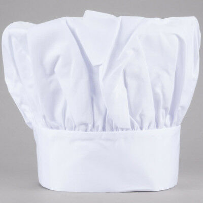 CHEF HAT WHITE CLOTH ONE SIZE FIT ALL, Adjustable