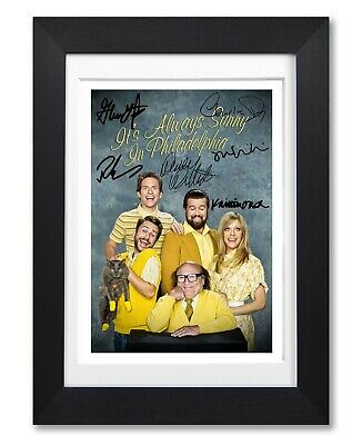 Its Always Sunny In Philadelphia Cast Signed Poster Print Photo Autograph Gift