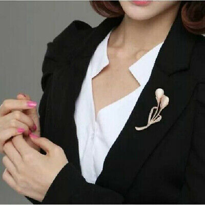 Creative Women Opal Calla Jewellery Party Brooch Accessory Gifts Costume N7