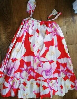 GIRLS BABY GAP BEAUTIFUL floral summer sun PARTY DRESS  AGE 4 - 5 YEARS Red