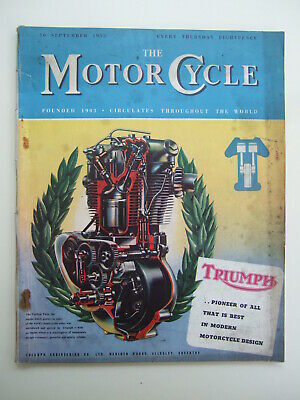 THE MOTORCYCLE - Vintage 'AJS & Matchless Programme' Article
