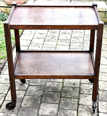 "Vintage Oak Tea Trolley - 24"" x 15"" x 27"" High - Good Condition"
