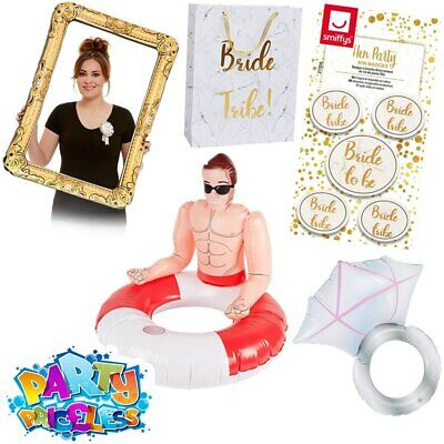 Bride Tribe Hen Do Night Party Props Accessories Hunk Inflatable Ring Frame