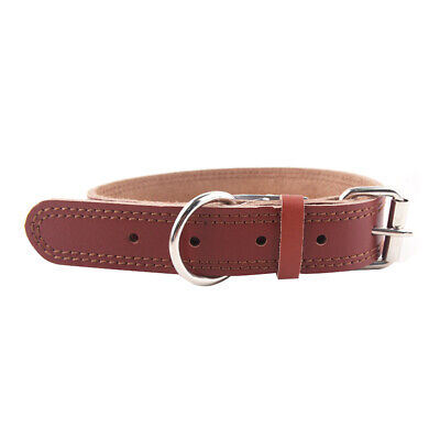 Solid Soft PU Leather Adjustable Safety Collar Neckband for Pet Dog Cat Puppy