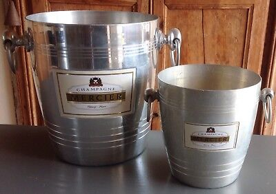 """Vintage French """"MERCIER"""" Champagne, wine cooler and a matching ice bucket"""