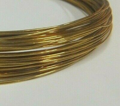 Brass Wire - 0.5mm x 15m (25 Gauge) - Crafts Sculpting Armature Jewellery