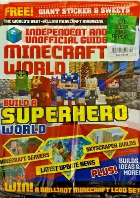 Minecraft World Independent And Unofficial Mag 2019 # 52 = Free Sticker + Sweets